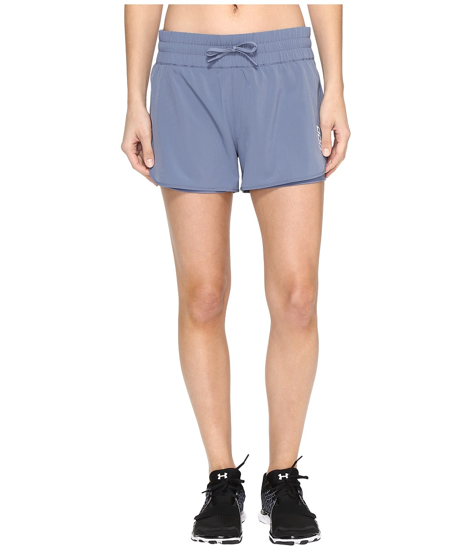 Lorna Jane - Triple Play Run Shorts (Powder Grey) Women's Shorts