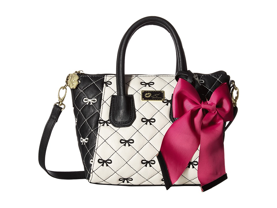 Luv Betsey - Giyaa Mini Satchel (Black/White) Satchel Handbags