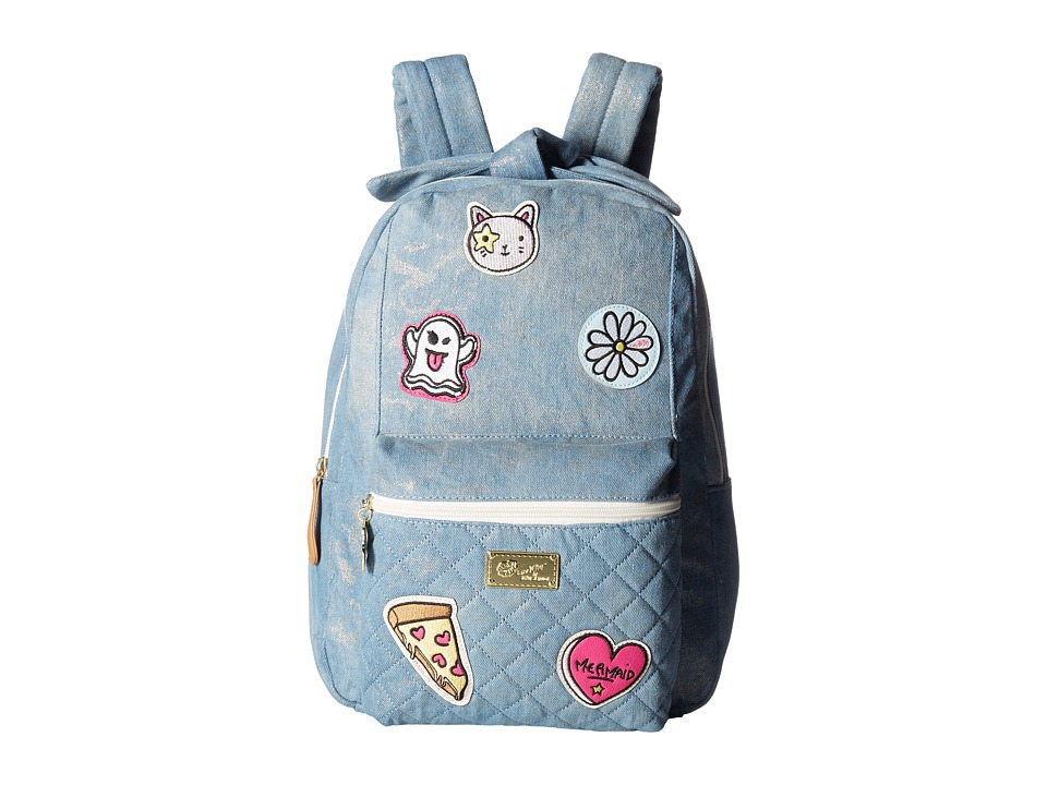 Luv Betsey - Jayden Quilted Backpack (Denim) Backpack Bags