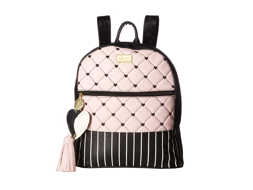 Luv Betsey - Dart PVC Quilted Backpack (Blush) Backpack Bags