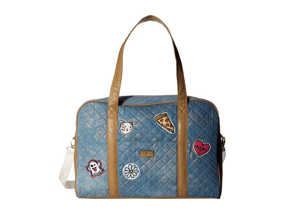 Luv Betsey - Cruisn Quilted Weekender (Denim) Weekender/Overnight Luggage