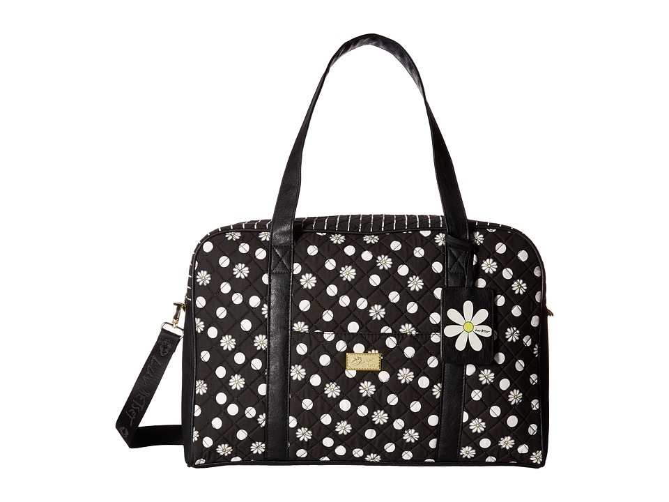 Luv Betsey - Cruizn Cotton Quilted Weekender (Black Dot) Weekender/Overnight Luggage