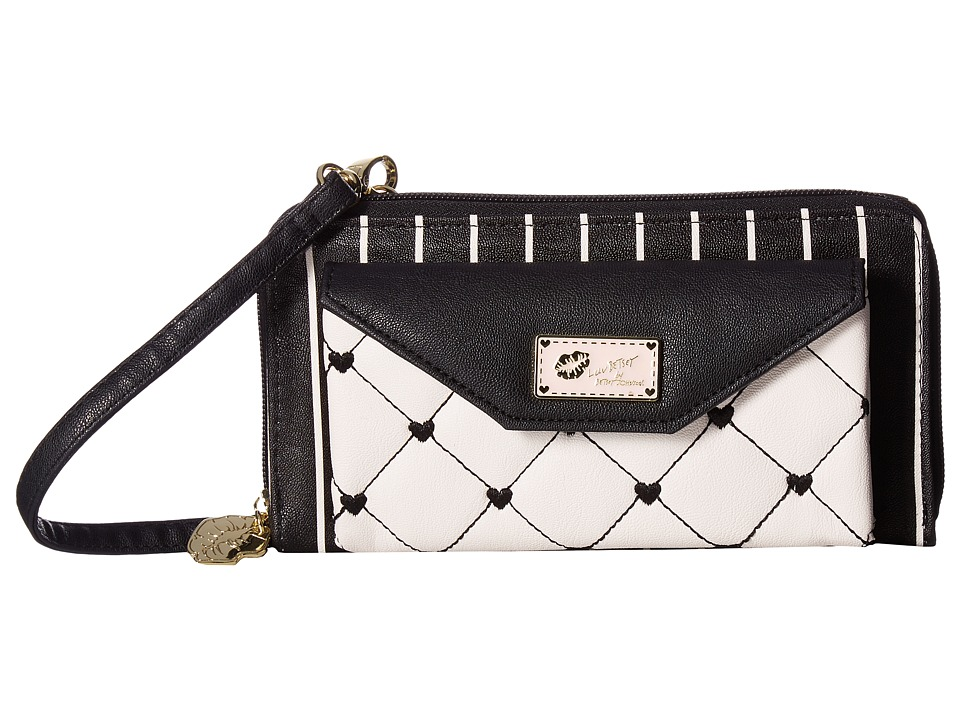 Luv Betsey - Amyy Quilted PVC Crossbody (Black/Ivy) Cross Body Handbags