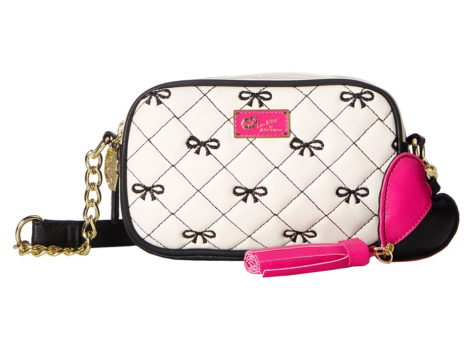 Luv Betsey - Deena Crossbody (Black/White) Cross Body Handbags
