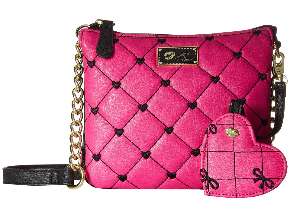 Luv Betsey - Double Crossbody (Pink) Cross Body Handbags