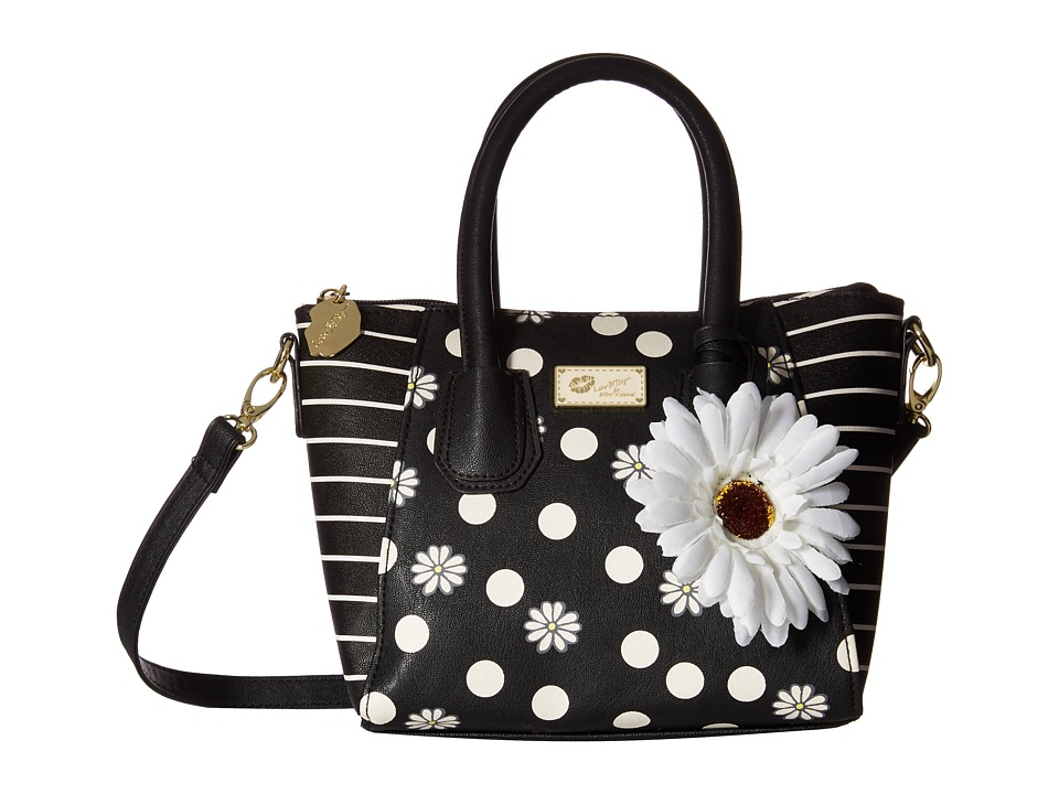 Luv Betsey - Giyaa Mini Satchel (Black Dot) Satchel Handbags
