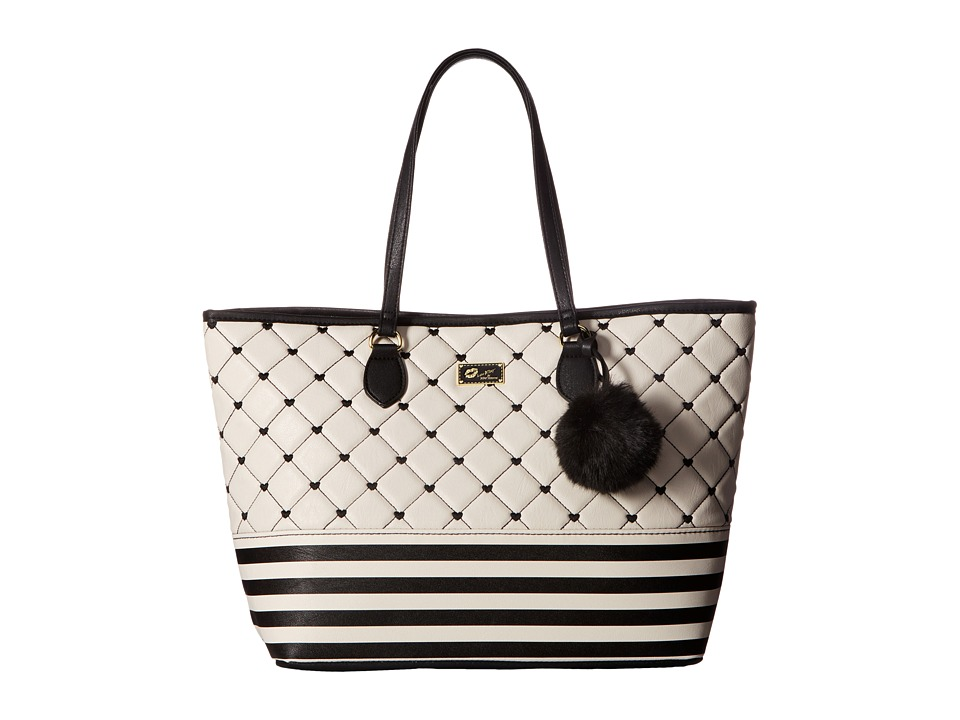 Luv Betsey - Sarah Tote (Black/White) Tote Handbags