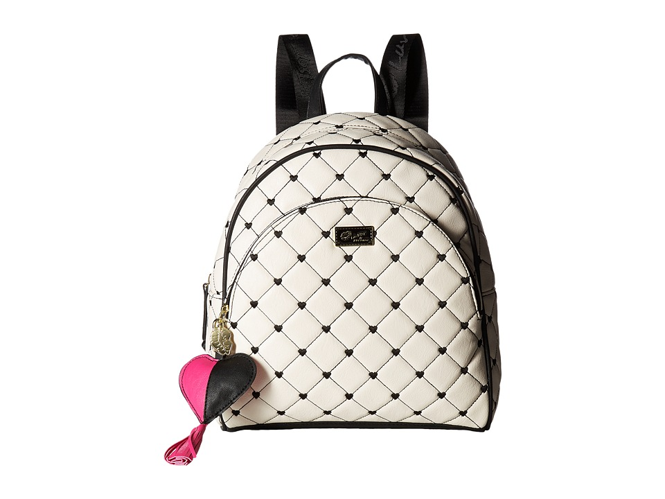 Luv Betsey - Bublez Quilted PVC Backpack (Black/White) Backpack Bags