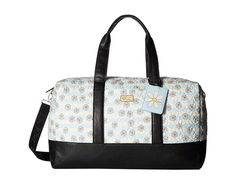 Luv Betsey - Maddy Cotton Quilted Weekender (Blue) Weekender/Overnight Luggage