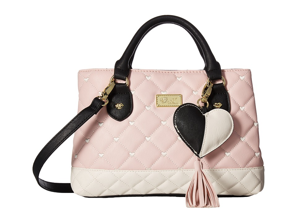 Luv Betsey - Candi Quilted Mini Triple Compartment Satchel (Blush) Satchel Handbags