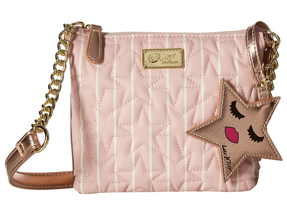 Luv Betsey - Double Crossbody (Black/Blush) Cross Body Handbags