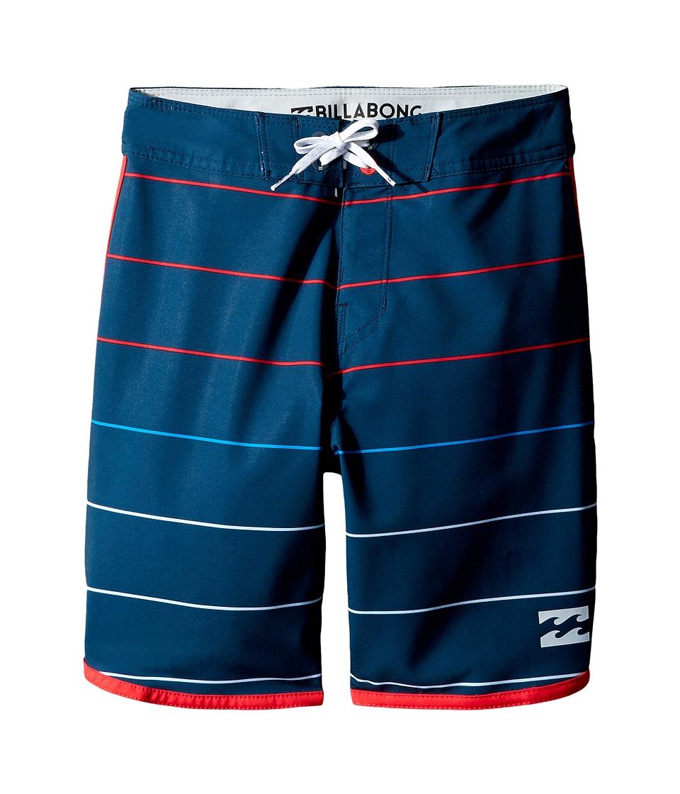 Billabong Kids - 73 X Stripe (Big Kids) (Indigo) Boy's Swimwear