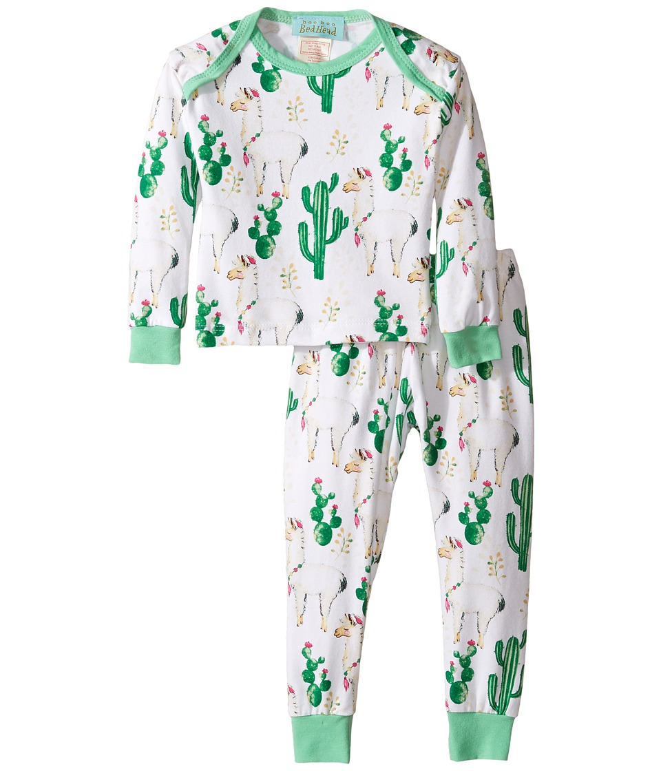 BedHead Kids - Booboo Long Sleeve Two-Piece Pajama Set (Infant) (Llama Cactus) Kid's Pajama Sets