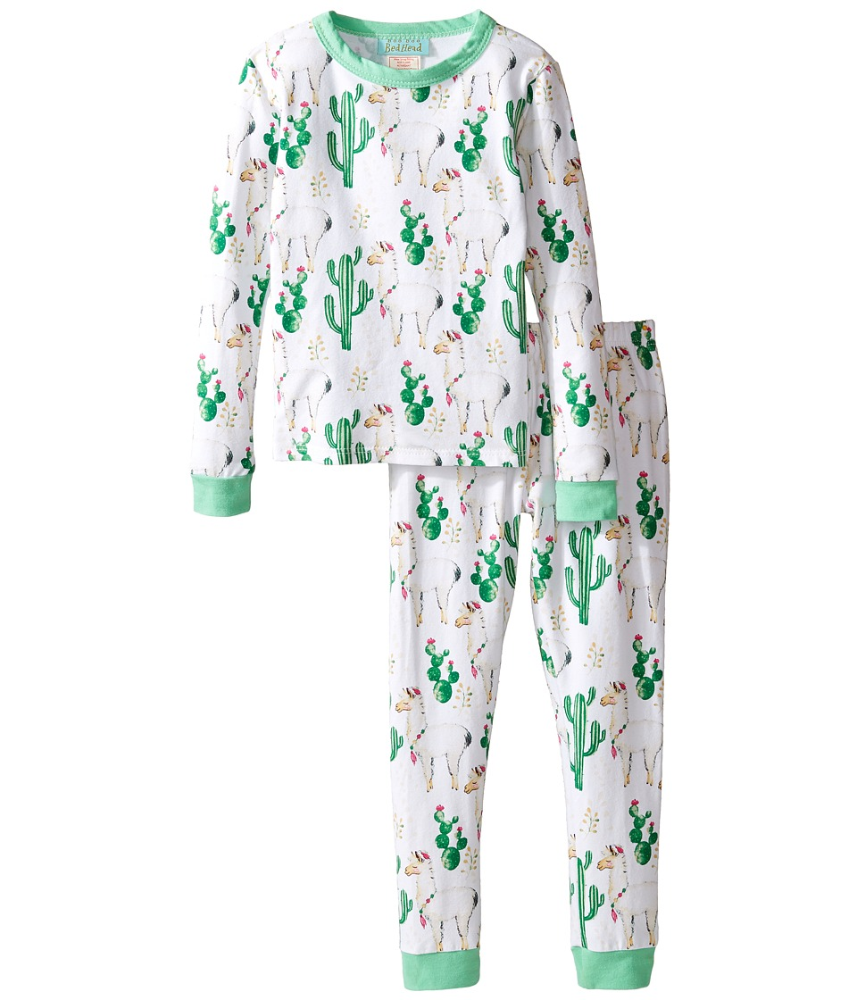 BedHead Kids - Long Sleeve Two-Piece Pajama Set (Toddler/Little Kids) (Llama Cactus) Kid's Pajama Sets