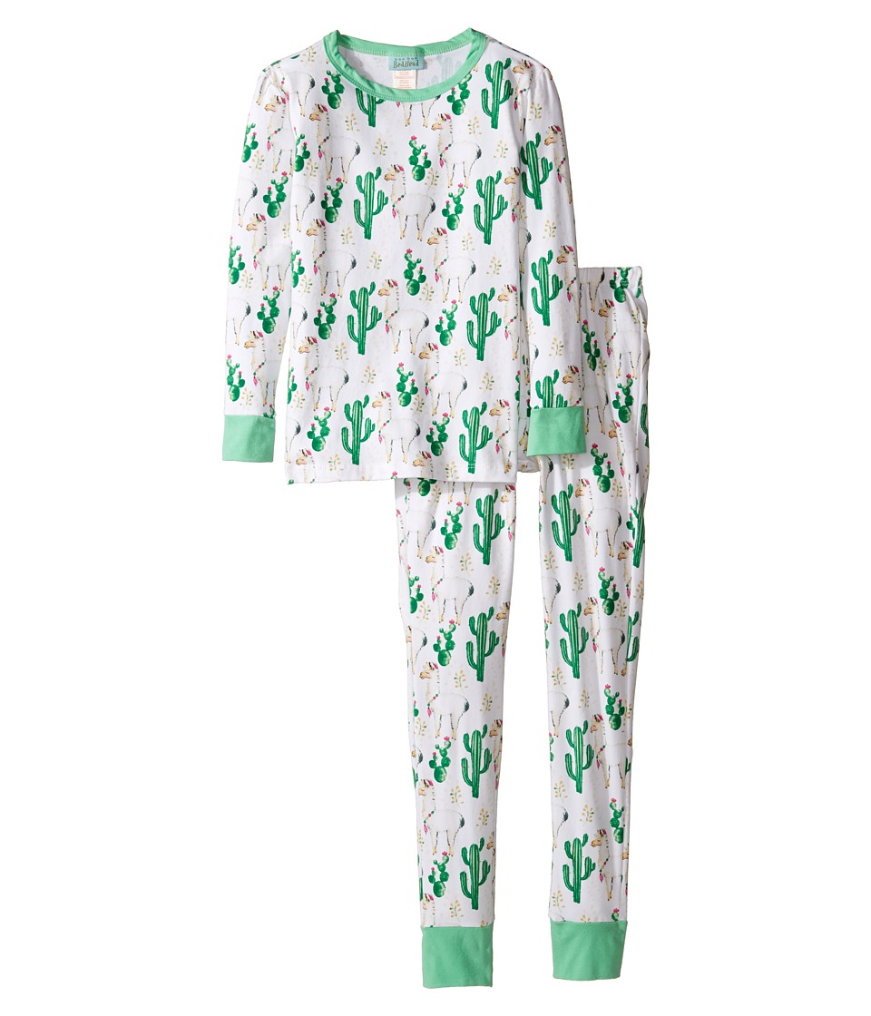 BedHead Kids - Long Sleeve Two-Piece Pajama Set (Big Kids) (Llama Cactus) Kid's Pajama Sets