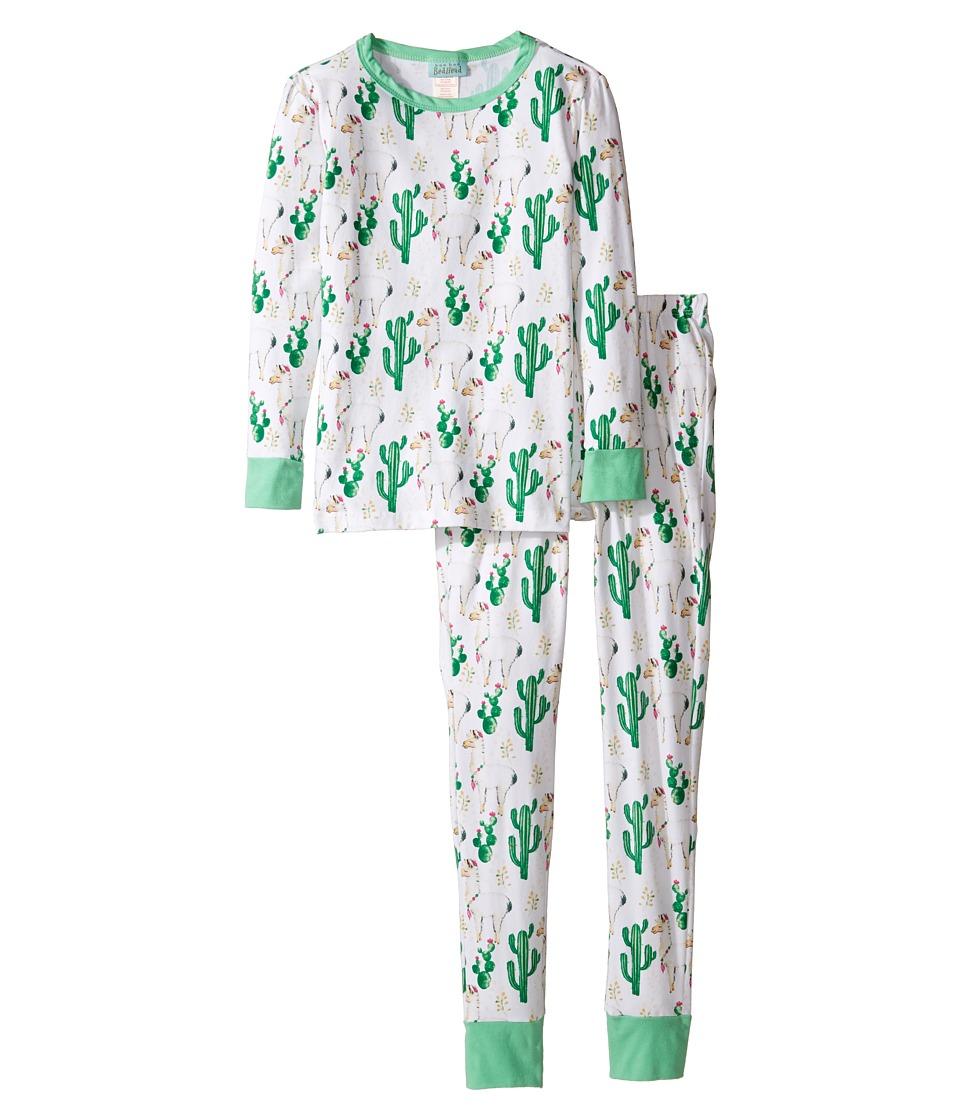 BedHead Kids - Long Sleeve Two-Piece Pajama Set (Big Kids) (Llama Cactus) Kid's Pajama Sets