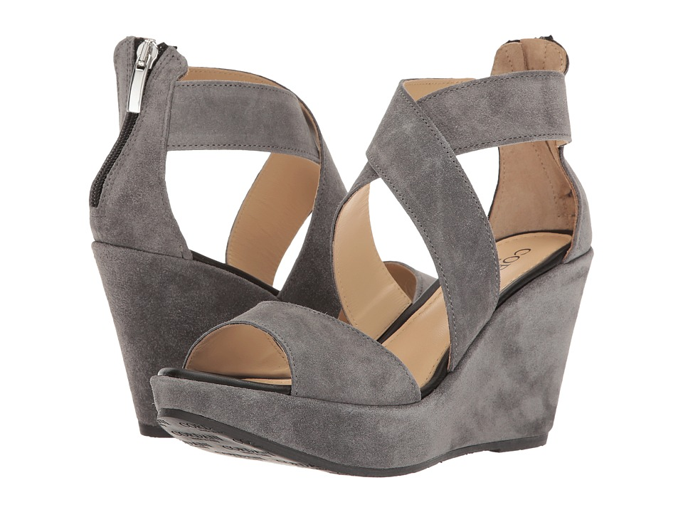 Cordani - Ravi (Grey Suede) Women's Wedge Shoes
