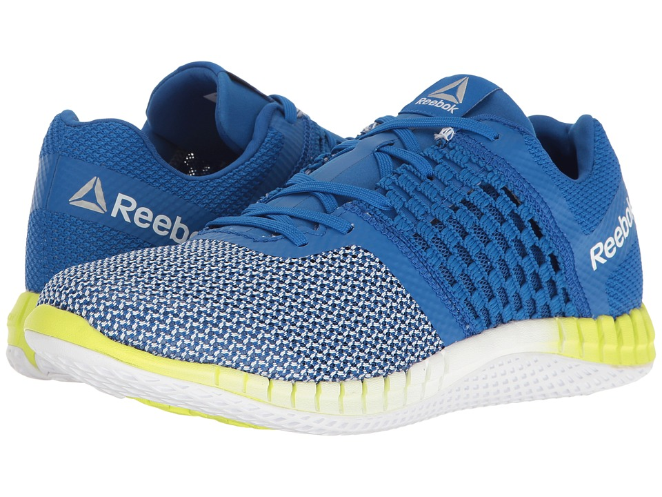 Reebok - ZPrint Run (Awesome Blue/White/Solar Yellow) Men's Shoes