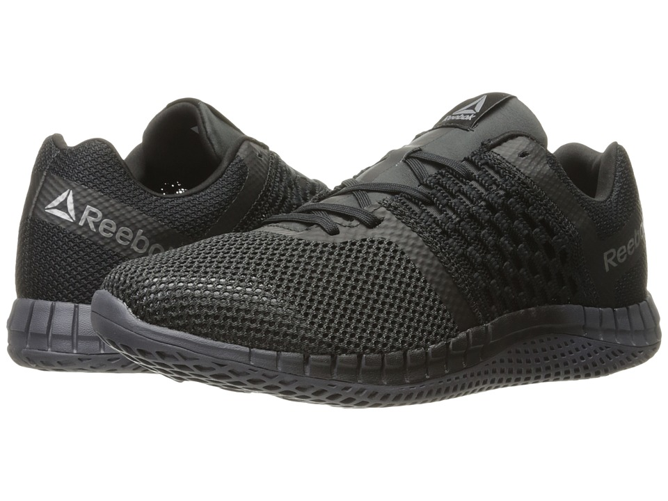 Reebok - ZPrint Run (Black/White/Coal) Men's Shoes