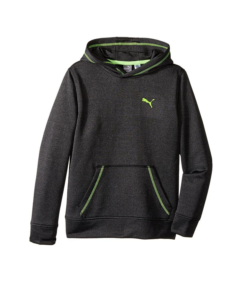 Puma Kids - Solid Melange Hoodie (Big Kids) (Black) Boy's Sweatshirt