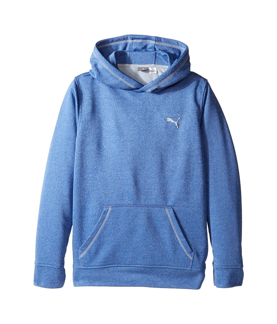 Puma Kids - Solid Melange Hoodie (Big Kids) (Blue) Boy's Sweatshirt
