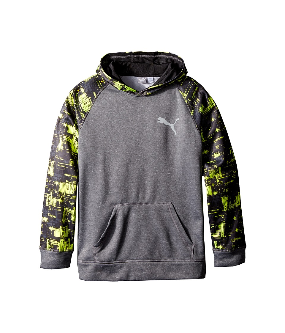 Puma Kids - Camo Print Color Block Hoodie (Big Kids) (Grey) Boy's Sweatshirt