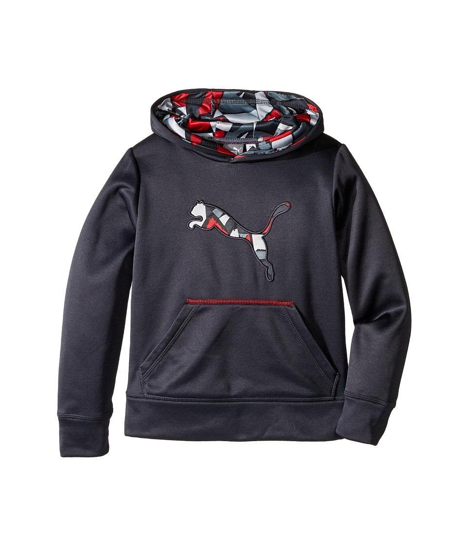 Puma Kids - Cat Logo Pullover Hoodie (Little Kids) (Dark Grey) Boy's Sweatshirt
