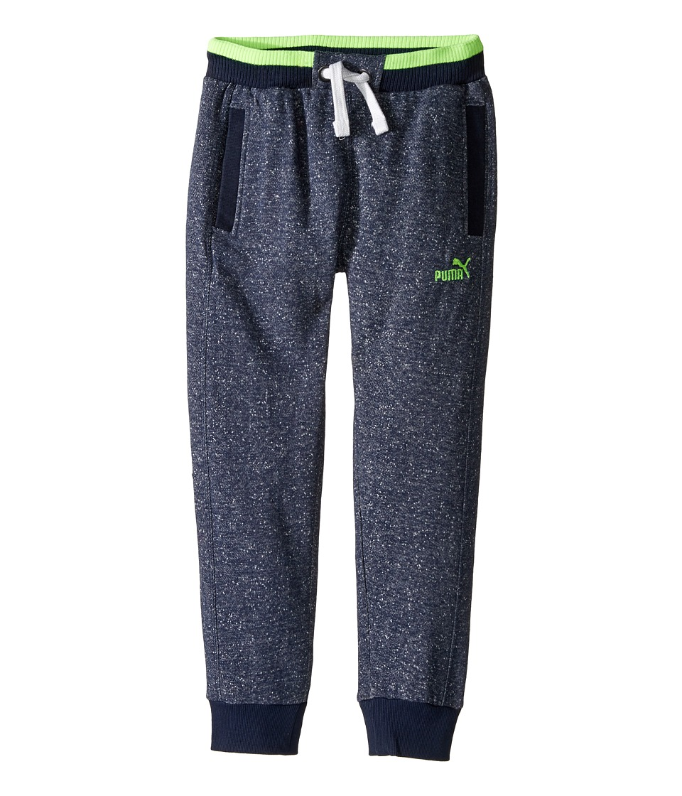 Puma Kids - Salt and Pepper Jogger (Big Kids) (Blue Heather) Boy's Casual Pants