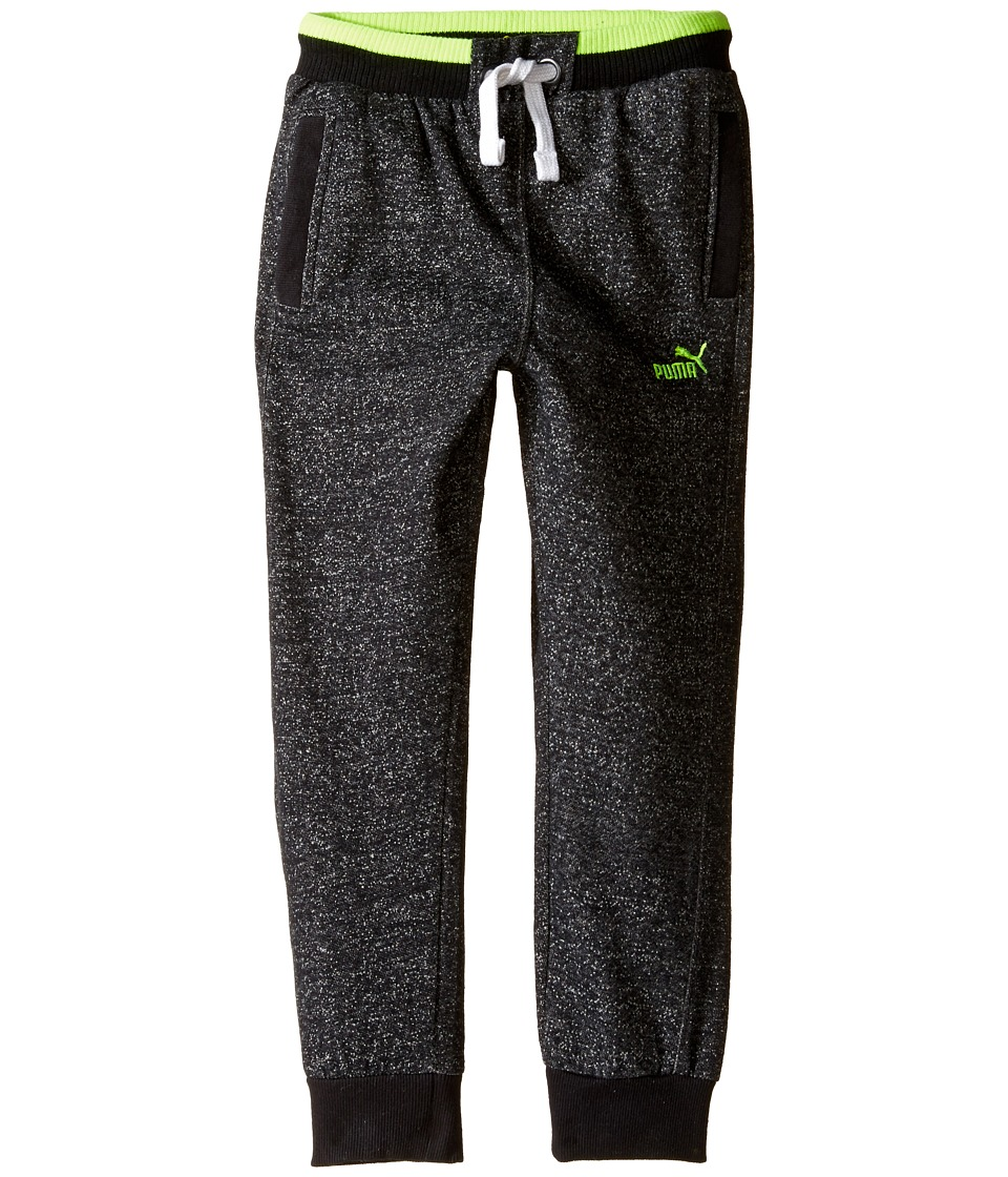 Puma Kids - Salt and Pepper Jogger (Big Kids) (Black Heather) Boy's Casual Pants