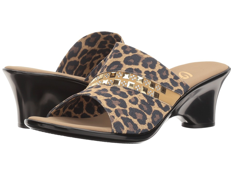 Onex - Maggy (Brown Leopard Elastic) Women's Sandals
