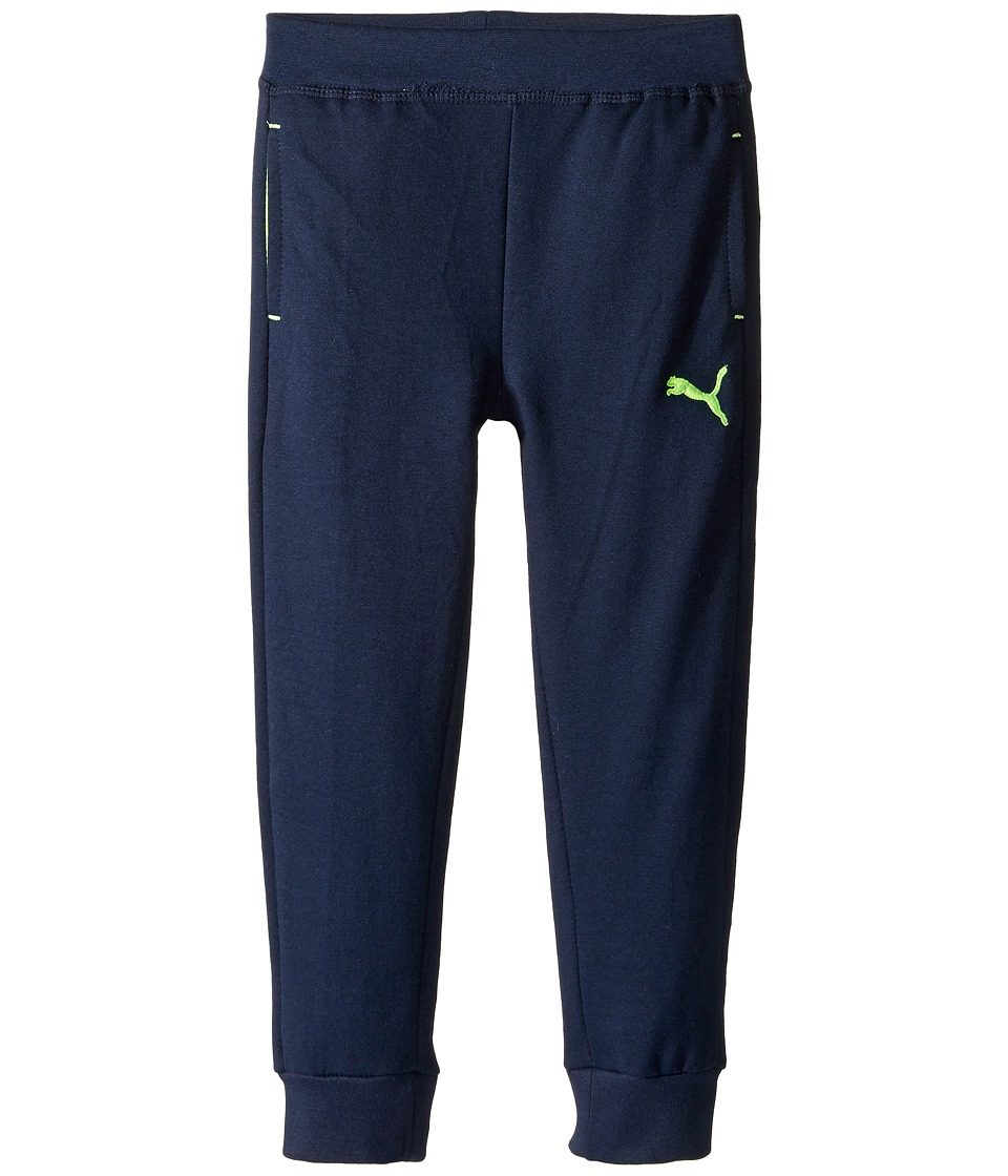 Puma Kids - French Terry Jogger (Little Kids/Big Kids) (Blue) Boy's Casual Pants