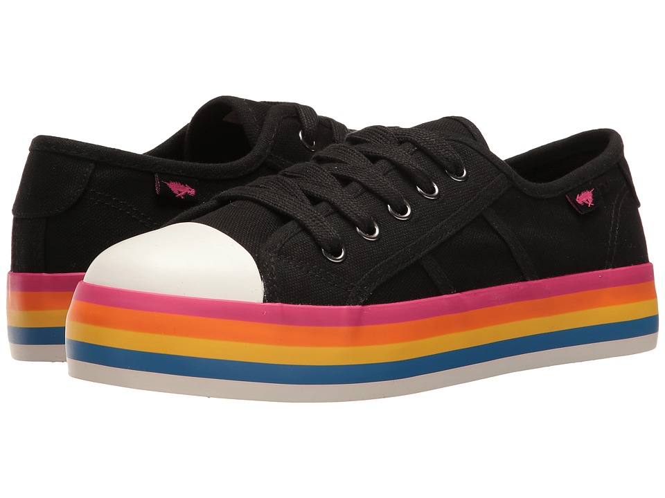 Rocket Dog - Magic (Black/Rainbow Foxing 8A Canvas) Women's Lace up casual Shoes