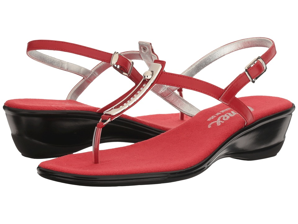 Onex - Valencia (Red Leather) Women's Sandals