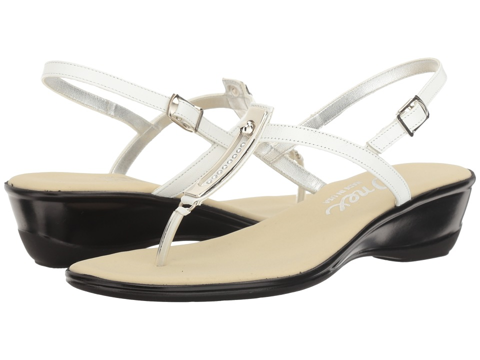 Onex - Valencia (White/Silver) Women's Sandals
