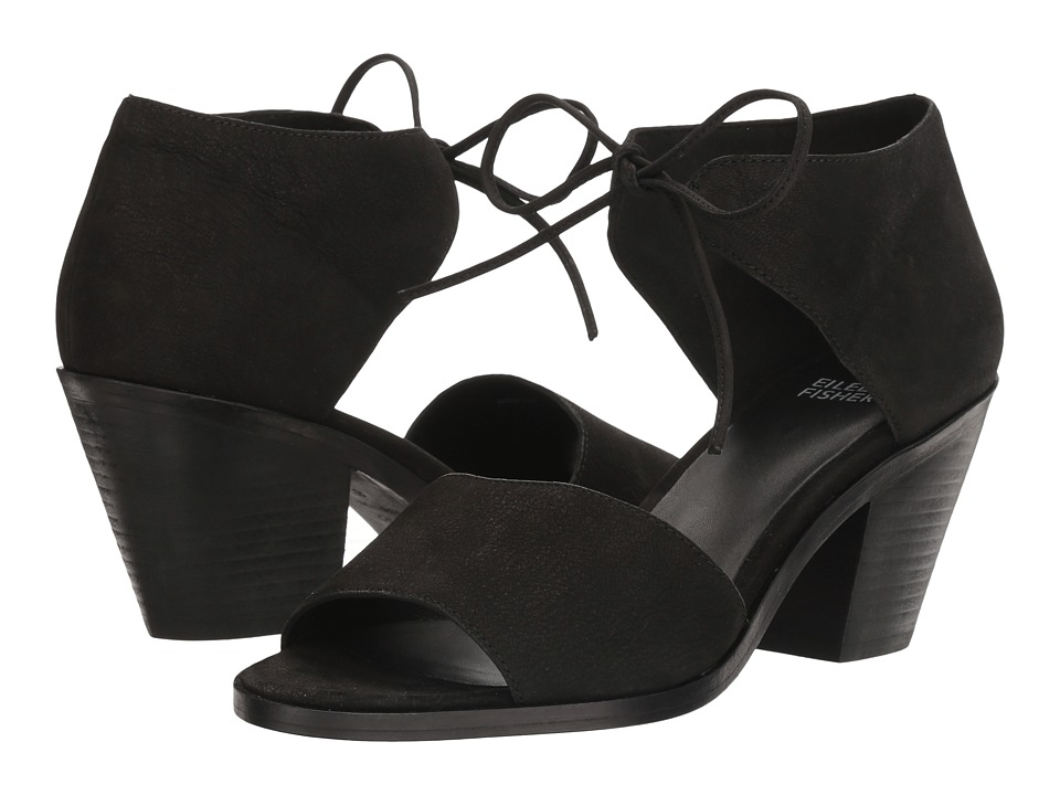 Eileen Fisher Ann (Black Tumbled Nubuck) High Heels