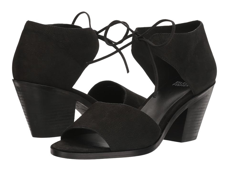 Eileen Fisher - Ann (Black Tumbled Nubuck) High Heels