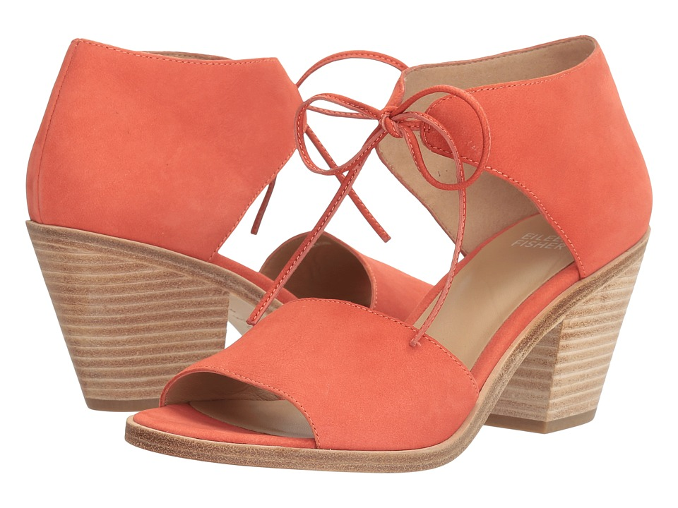 Eileen Fisher Ann (Coral Tumbled Nubuck) High Heels