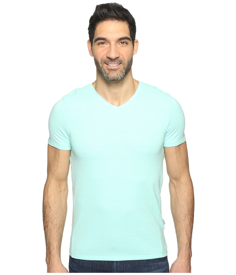 Calvin Klein SZ V-Neck Tee (Mint Splash) Men