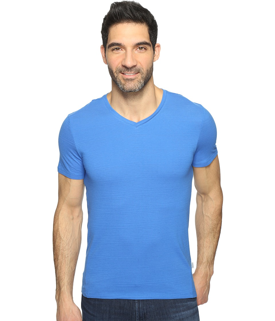 Calvin Klein SZ V-Neck Tee (Strong Blue) Men