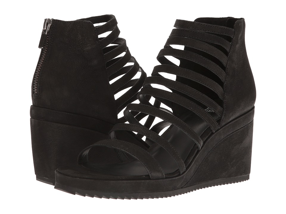 Eileen Fisher - Milly (Black Tumbled Nubuck) Women's Shoes