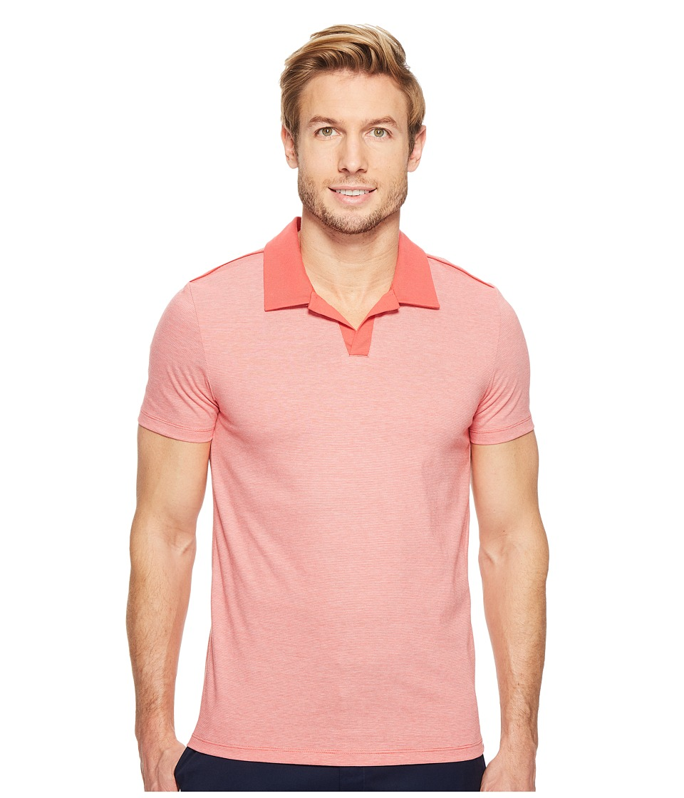 Calvin Klein - Liquid Jersey Yarn-Dye Polo (Phoenix Sun) Men's Short Sleeve Pullover