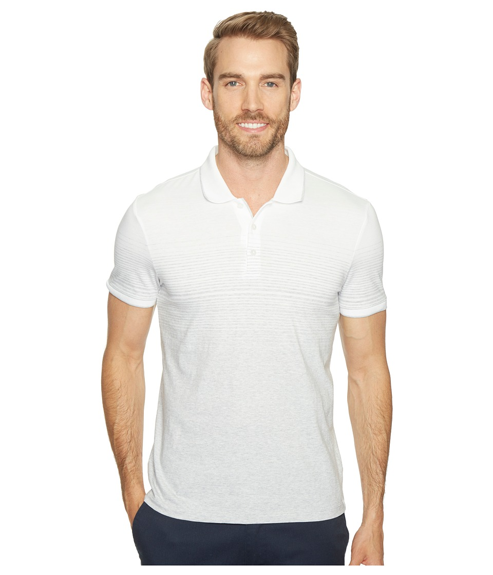 Calvin Klein - Liquid Jersey Two-Tone Ombre Polo (White Wash) Men's Short Sleeve Pullover