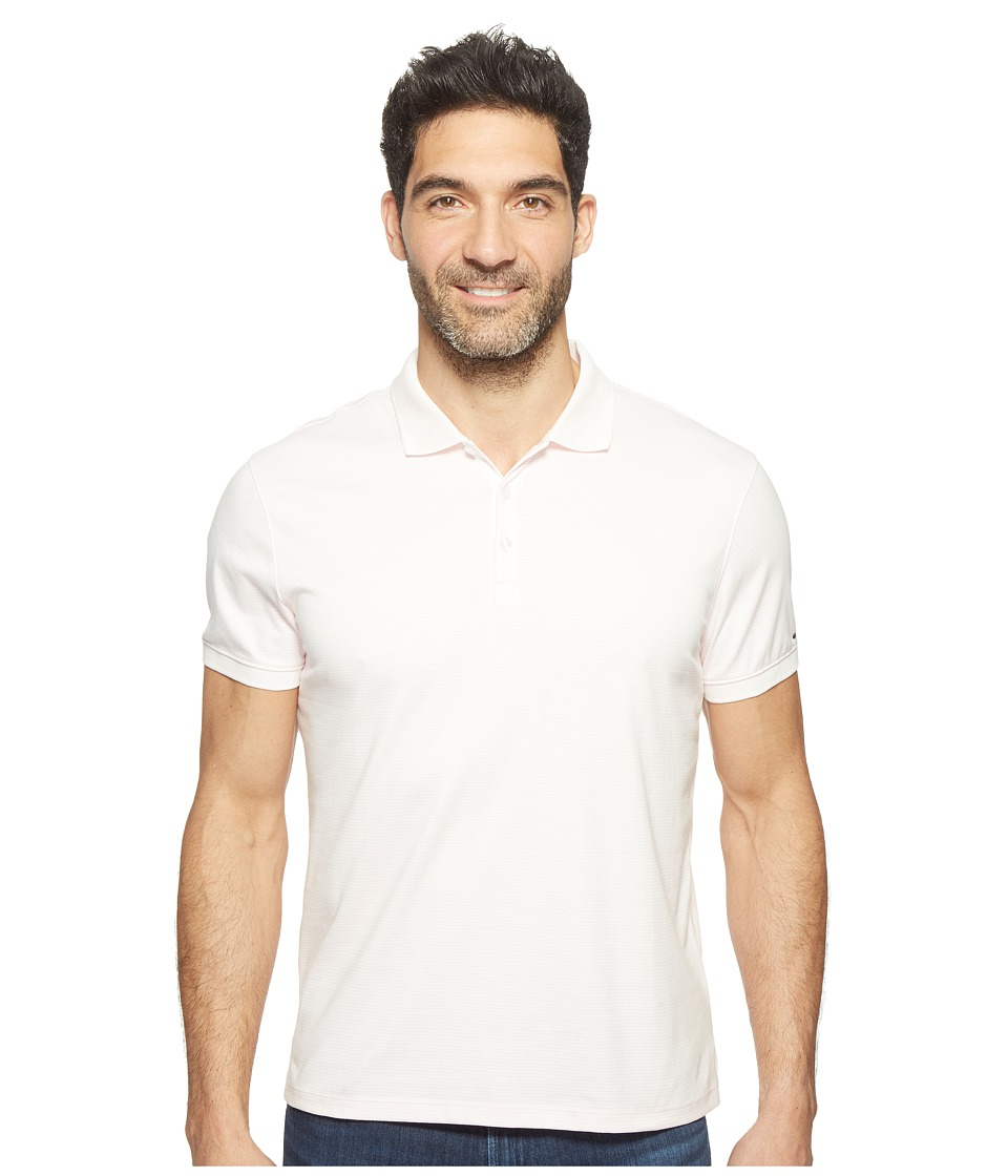 Calvin Klein - Feeder Stripe Liquid Cotton Polo (Shrinking Violet) Men's Short Sleeve Pullover