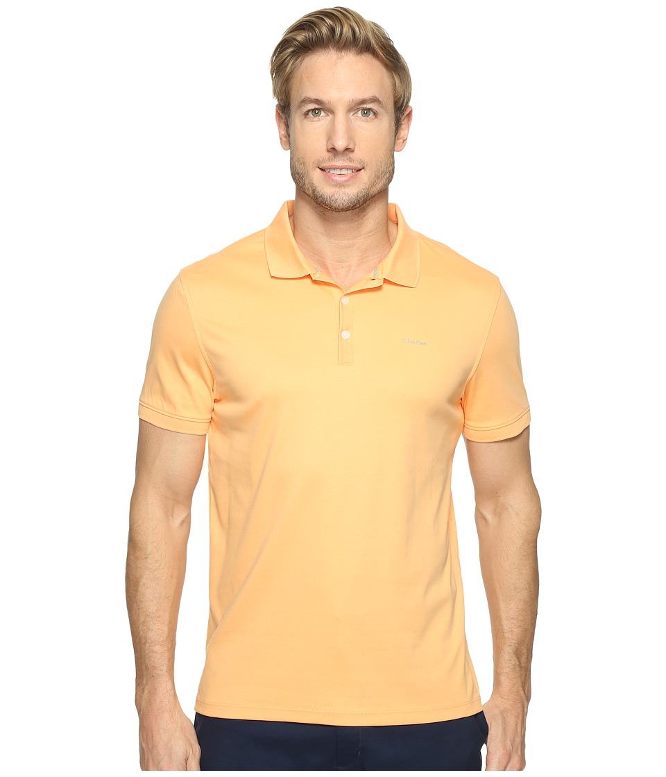 Calvin Klein - Liquid Cotton Polo (Pumpkin) Men's Short Sleeve Pullover