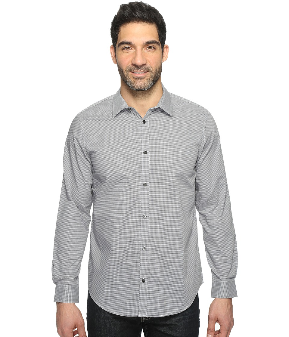 Calvin Klein - Infinite Cool Check Button Down (Deep Marble) Men's Long Sleeve Button Up