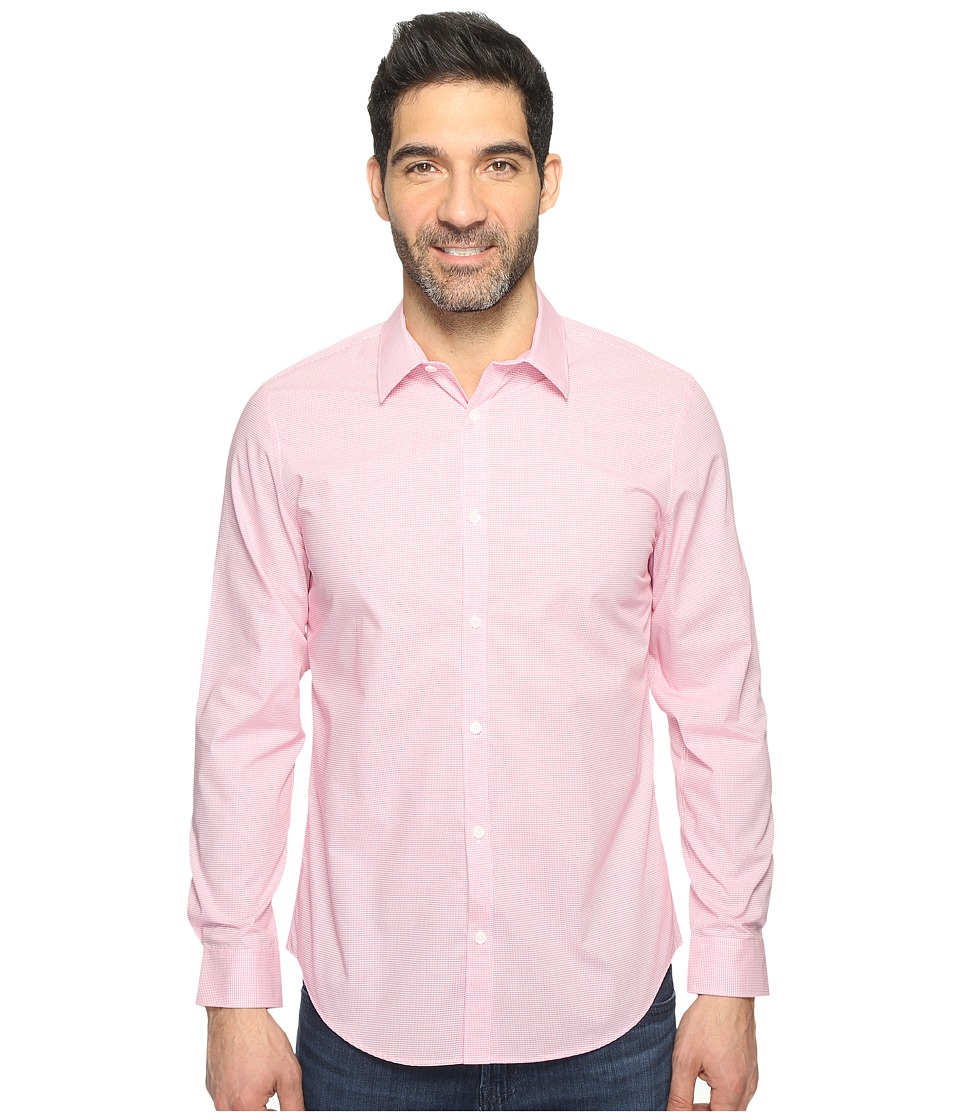 Calvin Klein - Infinite Cool Check Button Down (Baby Pink) Men's Long Sleeve Button Up