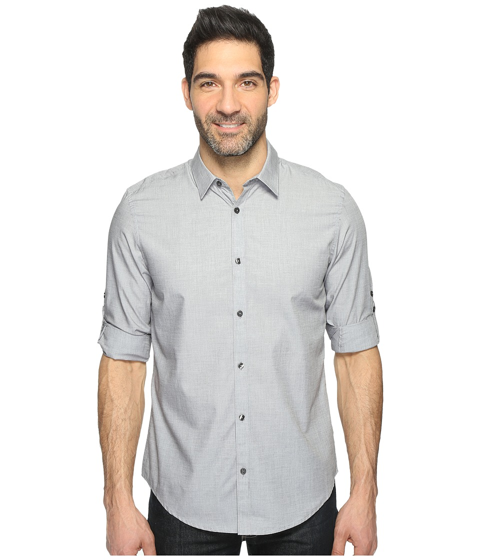 Calvin Klein - Chambray Button Down (Iron Gate) Men's Long Sleeve Button Up