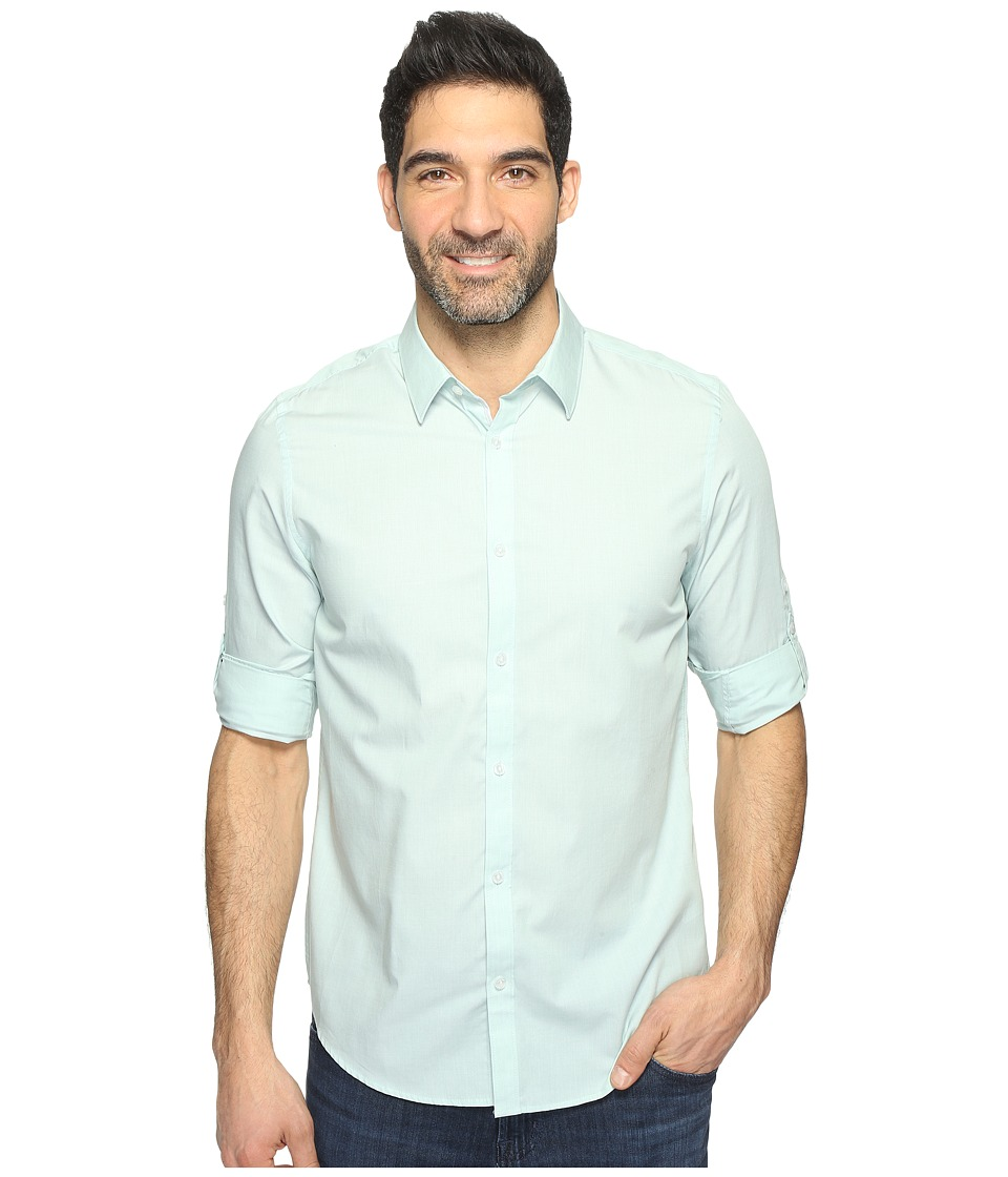 Calvin Klein - Chambray Button Down (Mint Splash) Men's Long Sleeve Button Up