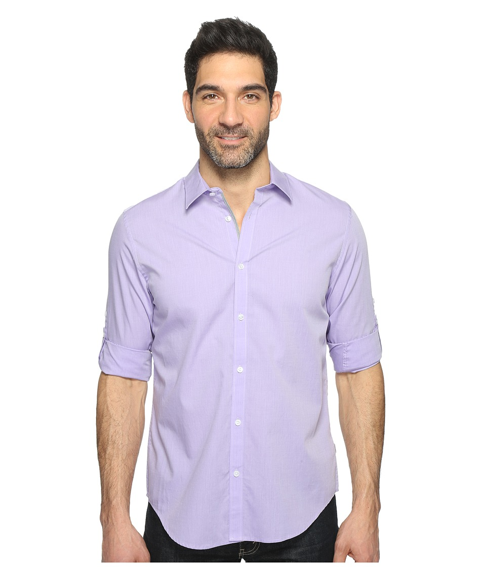 Calvin Klein - Chambray Button Down (Iced Purple) Men's Long Sleeve Button Up