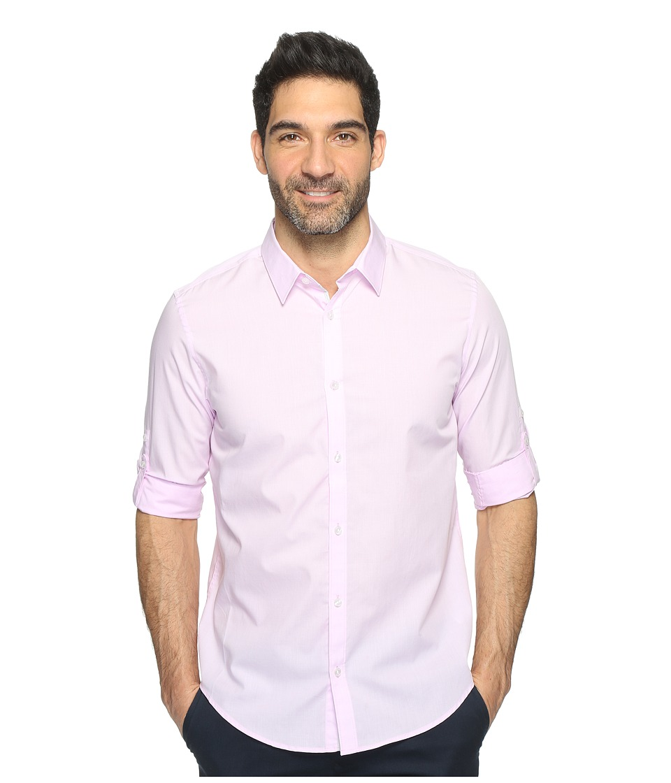 Calvin Klein - Chambray Button Down (Baby Pink) Men's Long Sleeve Button Up